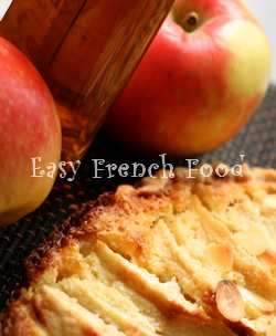apple custard tart - tarte Normande