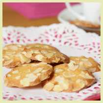 almond tuile cookies
