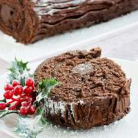 chocolate chestnut buche cake