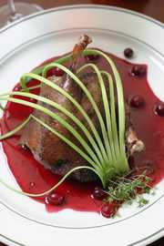 duck with currant sauce