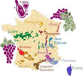 French wine region map