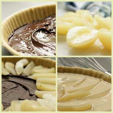 A french pear dessert recipe tarte choco poire for Easy french dessert recipes