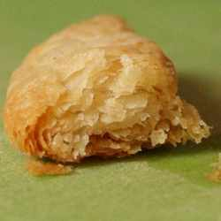 puff pastry closeup