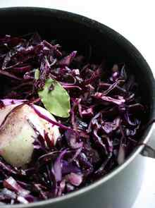 red cabbage ready to cook
