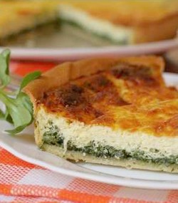 Layered Spinach Quche